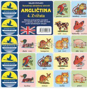 Antonín Šplíchal: Najdi dvojici - Angličtina - 4. Zvířata cena od 24 Kč