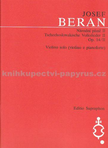 Beran Josef: Národní písně II-housle cena od 55 Kč