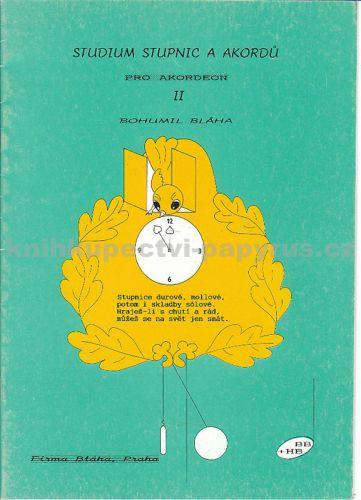 Bláha Bohumil: Studium stupnic a akordů pro akordeon II. cena od 65 Kč