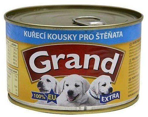 Jeseničan GRAND konz. štěně Extra kuř.kousky 405g
