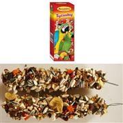 AVICENTRA Tyčinky pro velké papoušky - s ovocem a medem 2 ks