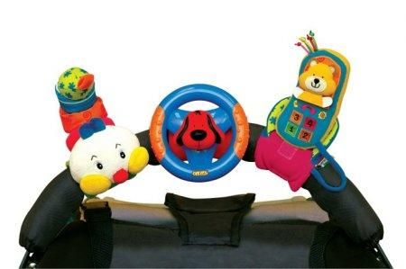 K´s Kids 3 veselé hračky na přichycení suchým zipem (telefon, volant, stonožka) cena od 0 Kč