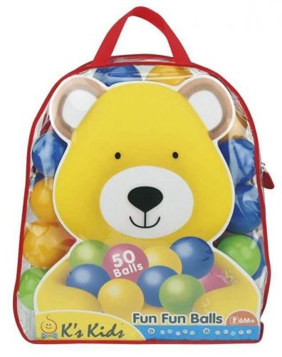 K´s Kids Barevné míčky v PVC tašce, 50 ks cena od 300 Kč