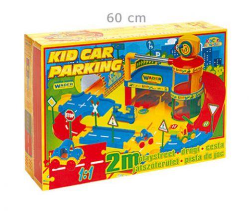 Bruder Wader garáž Kid Car s dráhou cena od 440 Kč