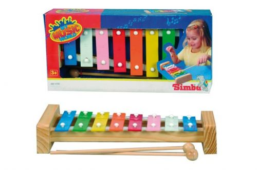 Simba Xylofon s 8 kovovými klávesami, 27 cm cena od 233 Kč