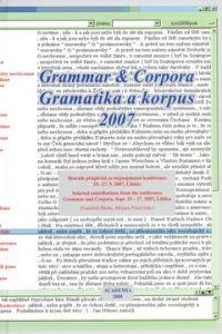 František Štícha: Gramatika a korupus 2007 cena od 210 Kč