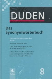 FRAUS Duden Band 8 Das Synonymwörterbuch Neu cena od 684 Kč