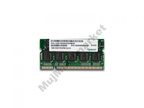 SODIMM DDR 1GB PC2700/333, 1.25