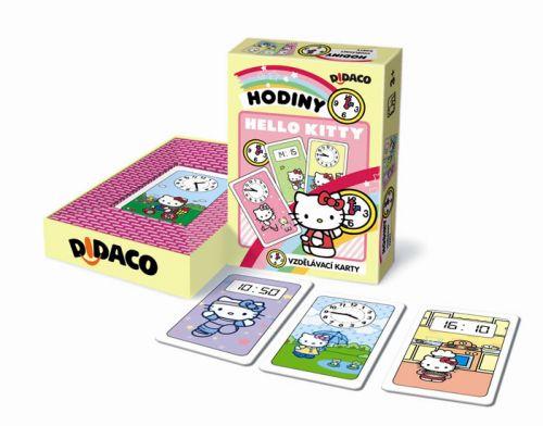 Vzdělávací karty - Hodiny - Hello Kitty cena od 40 Kč