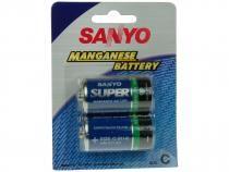 Baterie SANYO C - malý monočlánek UM 2/2B, 2ks