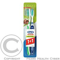 GILLETTE Oral-B zubní kartáček 3Effect Natural Fresh 1+1