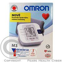 OMRON M3 na paži s kontrolou utažení manžety