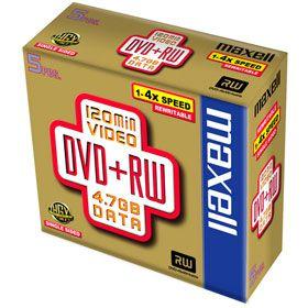 MAXELL DVD+RW 4,7GB 4x 1PK JEWEL vč AP