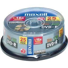 MAXELL DVD-R 4.7 16x 25SPINDL vč.AP