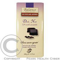 HEALTH LINK Balance 72% hořká čokoláda s kakaovými boby bez cukru 100g cena od 68 Kč