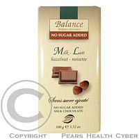 HEALTH LINK Balance mléčná čokoláda s lískovými ořechy bez cukru 100g cena od 68 Kč