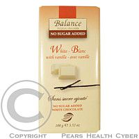 HEALTH LINK Balance bílá čokoláda s vanilkou bez cukru 100g