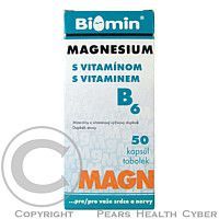 BIOMIN MAGNESIUM S VITAMINEM B6 50 tobolek