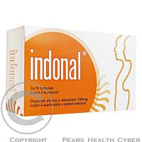 NATURAL MEDICAMENTS Indonal cps. 3 x 10