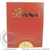 LOANA Lonaris Cotton-lýtková punčocha KTII 2K-ot karamel
