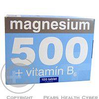 TAMDA OLOMOUC Magnesium 500 + vitamín B6 51mg tbl. 100