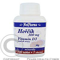 MEDPHARMA Hořčík 300 mg + vit. D3 tbl. 107