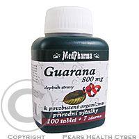 MEDPHARMA Guarana 800mg tbl.107 cena od 116 Kč