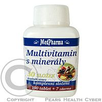 MEDPHARMA Multivitamín s minerály 30 složek tbl. 107
