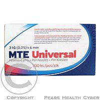 Acti-med Ag Jehly MTE Universal 31G 0.25x6mm pro inzulínová pera 100ks