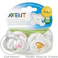 AVENT CANNON RUBBER LIMITED AVENT idítko Zvířátko 0-6měsíce bez BPA 2ks