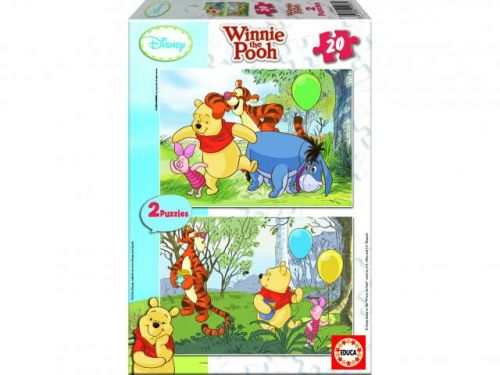 Educa Puzzle Medvídek Pú 2x20 dílků cena od 165 Kč