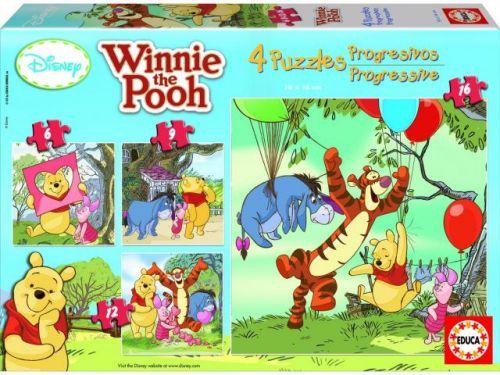 Educa Puzzle Medvídek Pú 6,9,12 a 16 dílků
