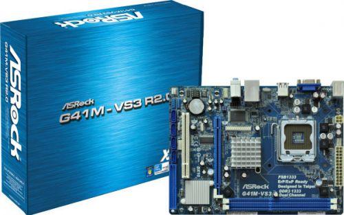 ASRock G41M-VS3, G41 ICH7, DualDDR3-1333, SATA2, VGA, LAN, mATX
