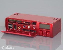 AKASA USB 2.0 interní ALLinONE - červený