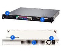 "SUPERMICRO SC513F-350 mini1U ATX 12""x9,5"",1HDD, 350W(24p) 80+"