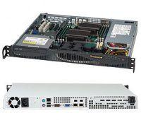"SUPERMICRO SC512F-350 mini1U ATX 12""x10"",2HDD, 350W(24p) 80+"