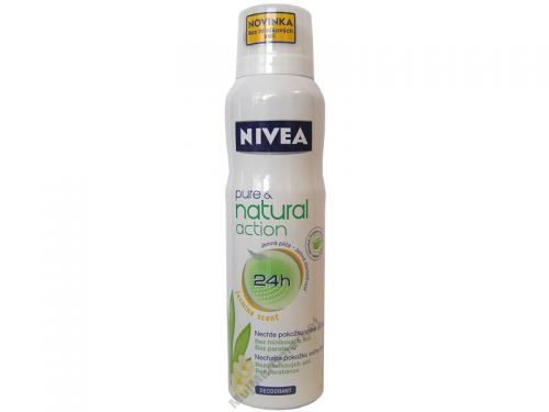 Nivea Pure & Natural Action Jasmín sprej 150ml