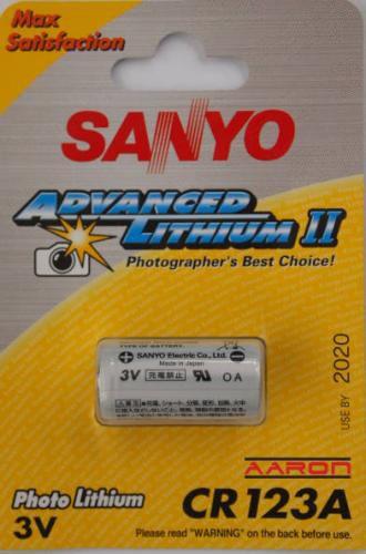 Sanyo Lithium battery CR 123