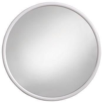 Amirro Zrcadlo v plastovém rámu Kuba bílá 40 cm