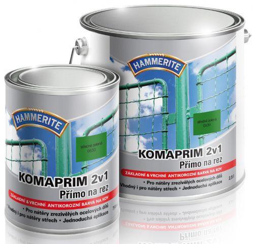 HAMMERITE Antikorozní barva na kov Komaprim 2v1 0,75 l hnědá