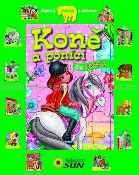 Grez Marcela: Koně a poníci - 8 x puzzle cena od 132 Kč