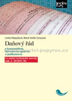 Lenka Matyášová, Marie Emilie Grossová: Daňový řád cena od 754 Kč