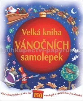 Velká kniha vánočních samolepek cena od 65 Kč