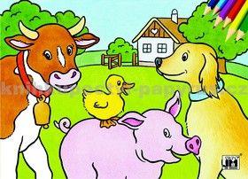 Domácí zvířata - omalovánka cena od 9 Kč