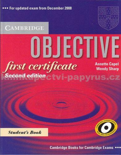 Cambridge university press Objective first certificate , Second ed.,St.B. cena od 644 Kč