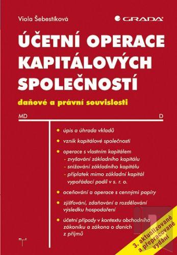 Viola Šebestíková: Účetní operace kapitálových společností cena od 298 Kč