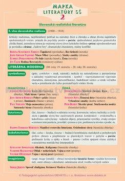 didaktis Mapka literatúry SŠ 2 cena od 76 Kč