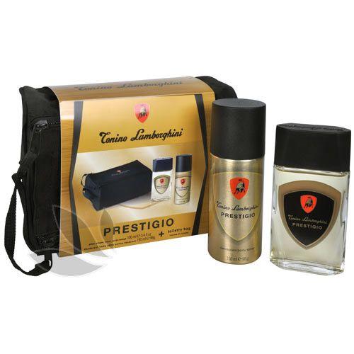 Tonino Lamborghini Prestigio - voda po holení 100 ml + deodorant ve spreji 150 ml + kosmetická taška