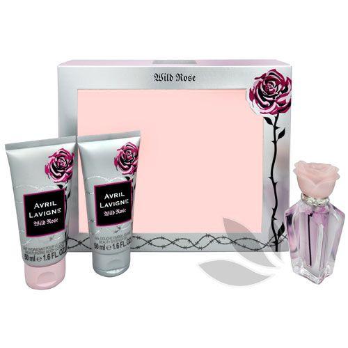 Avril Lavigne Wild Rose - parfémová voda s rozprašovačem 15 ml + sprchový gel 50 ml + tělové mléko 50 ml
