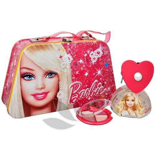 Barbie Barbie - toaletní voda s rozprašovačem 50 ml + lesk na rty + plechový box